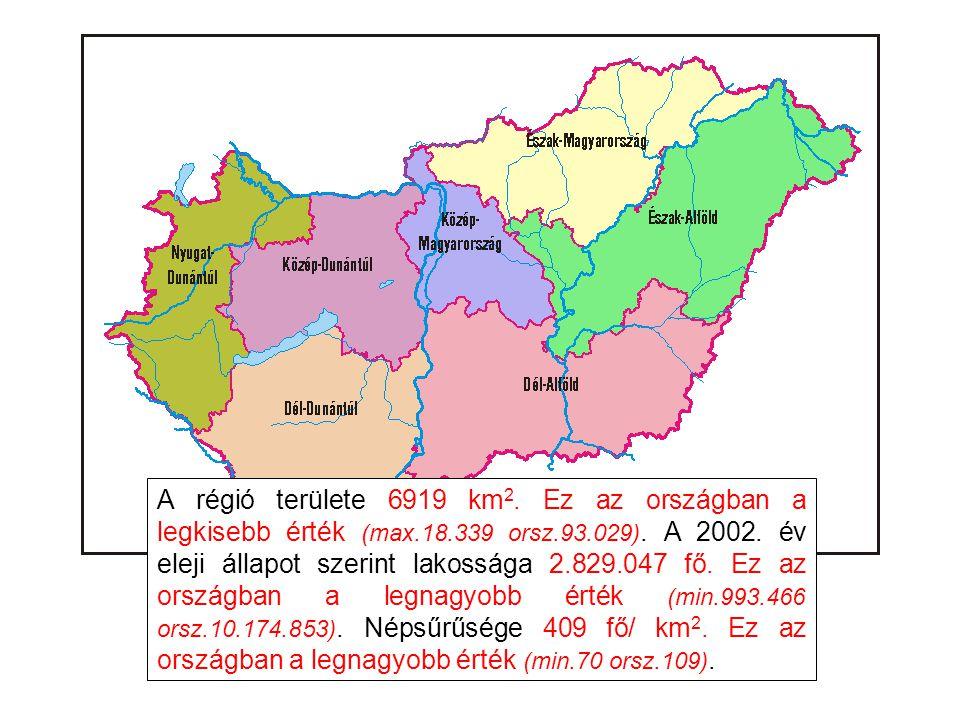 A régió területe 6919 km2. Ez az országban a legkisebb érték (max. 18
