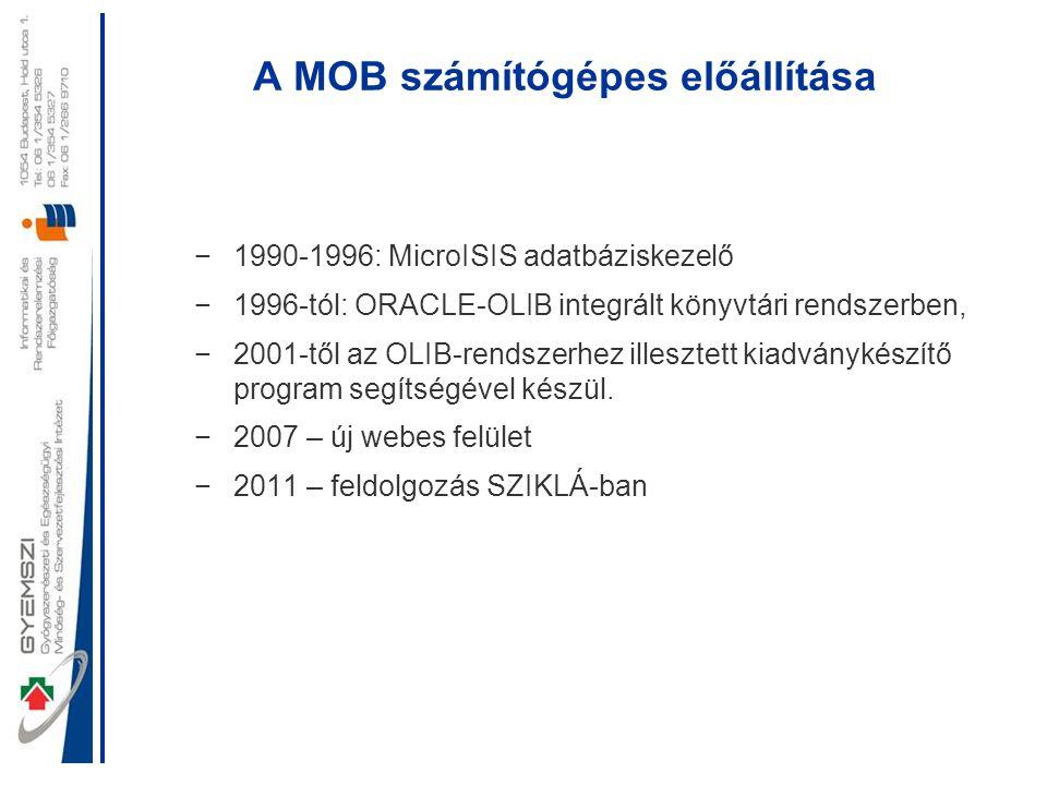 A MOB számítógépes előállítása