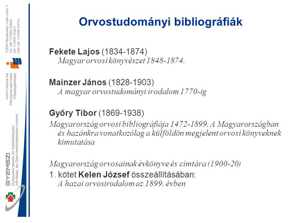 Orvostudományi bibliográfiák