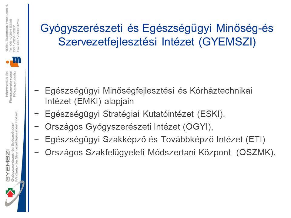 Gyógyszerészeti és Egészségügyi Minőség-és Szervezetfejlesztési Intézet (GYEMSZI)