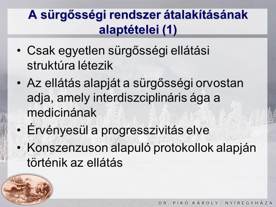 A sürgősségi rendszer átalakításának alaptételei (1)