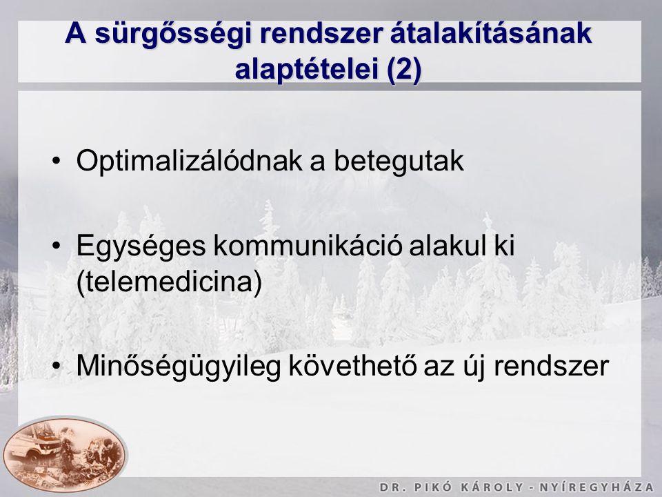 A sürgősségi rendszer átalakításának alaptételei (2)