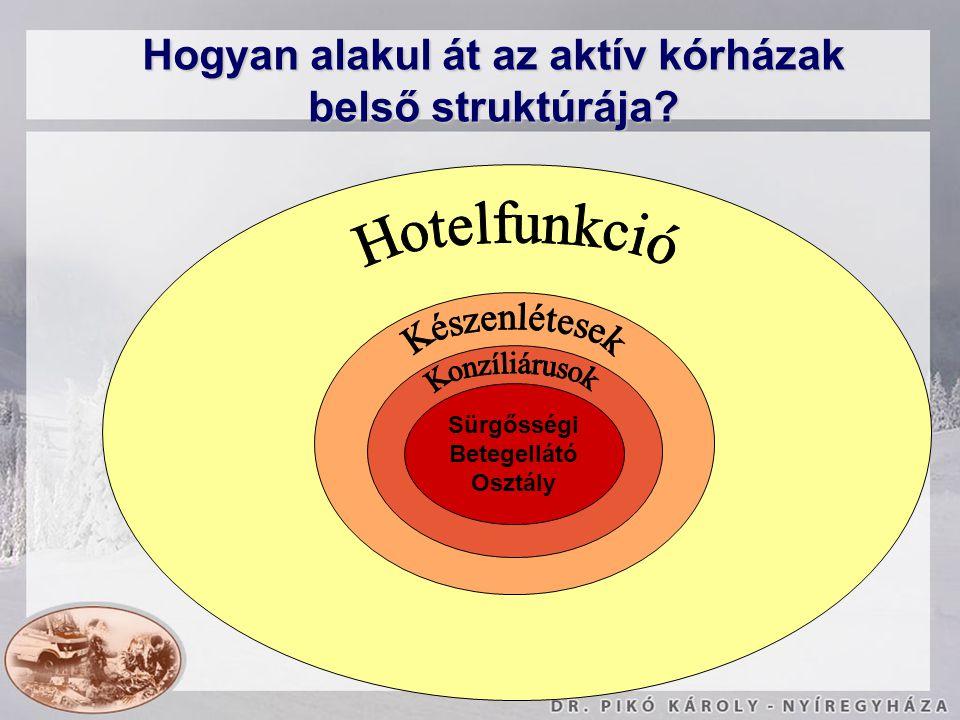 Hogyan alakul át az aktív kórházak belső struktúrája