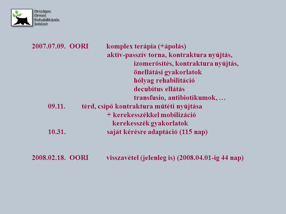 2007.07.09. OORI komplex terápia (+ápolás)