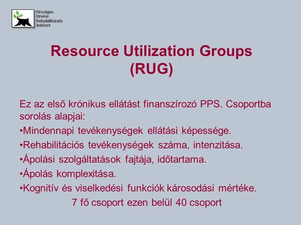 Resource Utilization Groups (RUG)