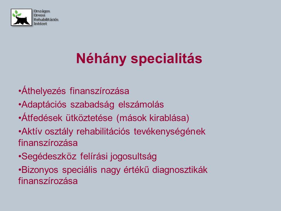 Néhány specialitás Áthelyezés finanszírozása
