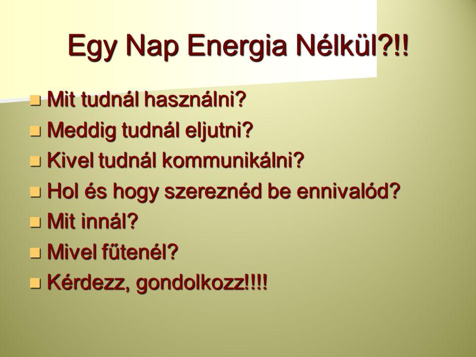 Egy Nap Energia Nélkül !! Mit tudnál használni Meddig tudnál eljutni