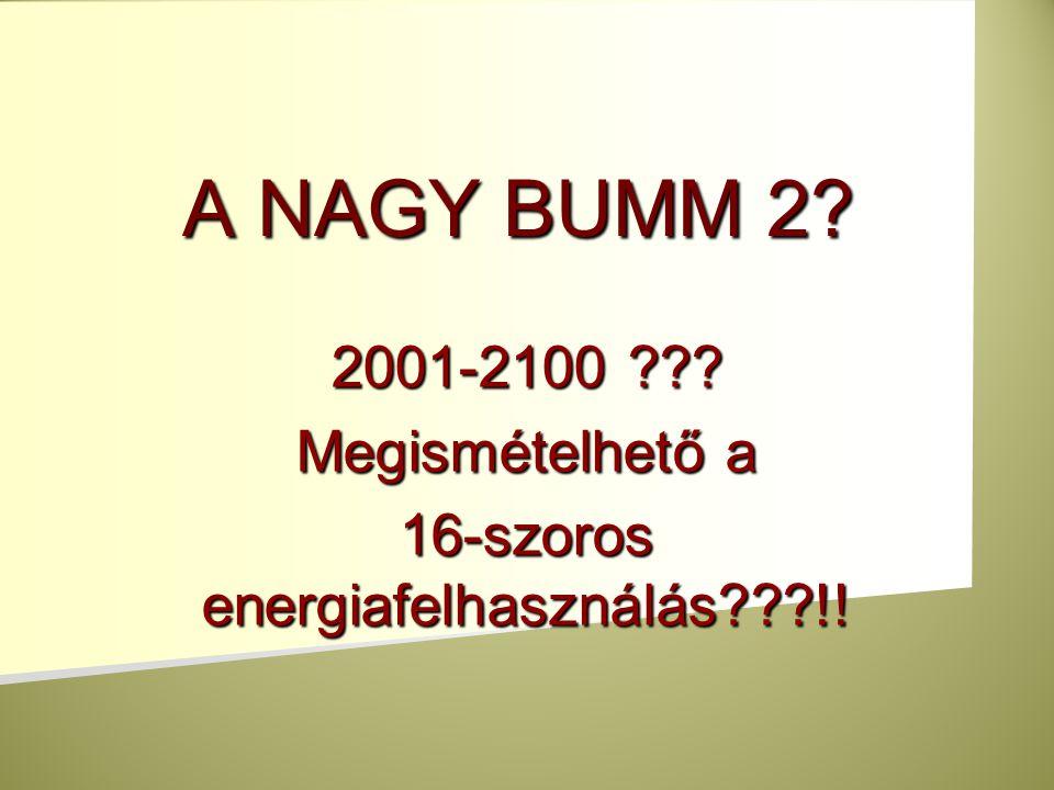 2001-2100 Megismételhető a 16-szoros energiafelhasználás !!