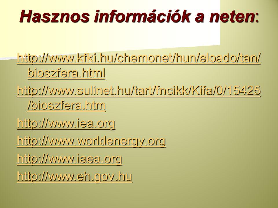 Hasznos információk a neten: