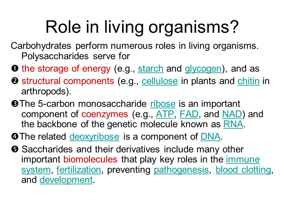 Role in living organisms