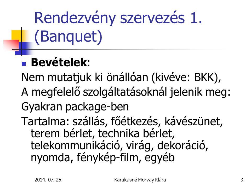 Rendezvény szervezés 1. (Banquet)