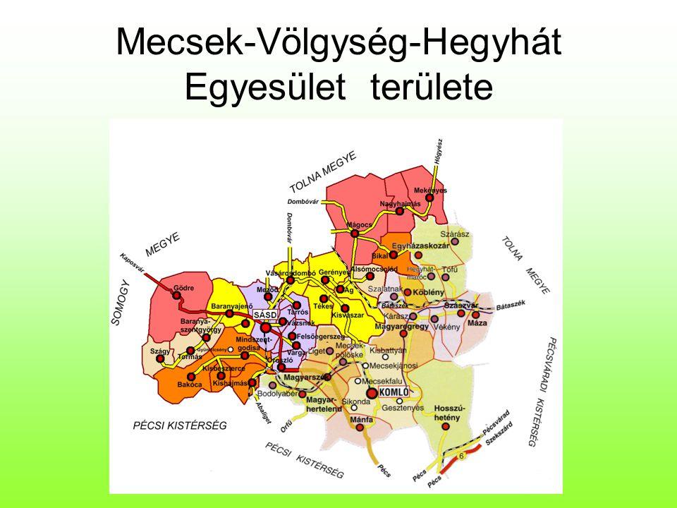 Mecsek-Völgység-Hegyhát Egyesület területe