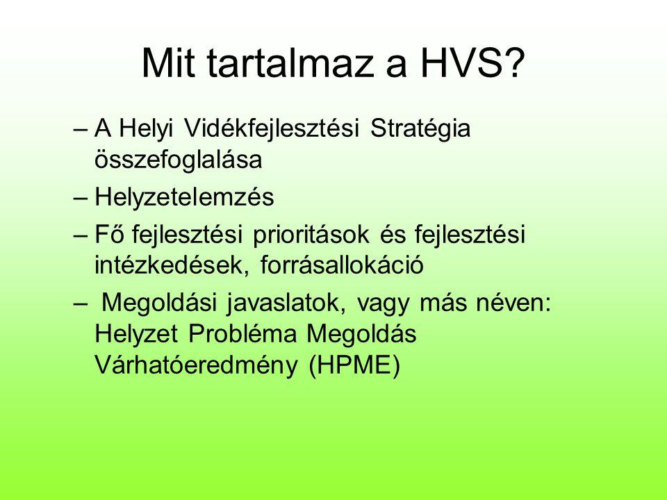 Mit tartalmaz a HVS A Helyi Vidékfejlesztési Stratégia összefoglalása