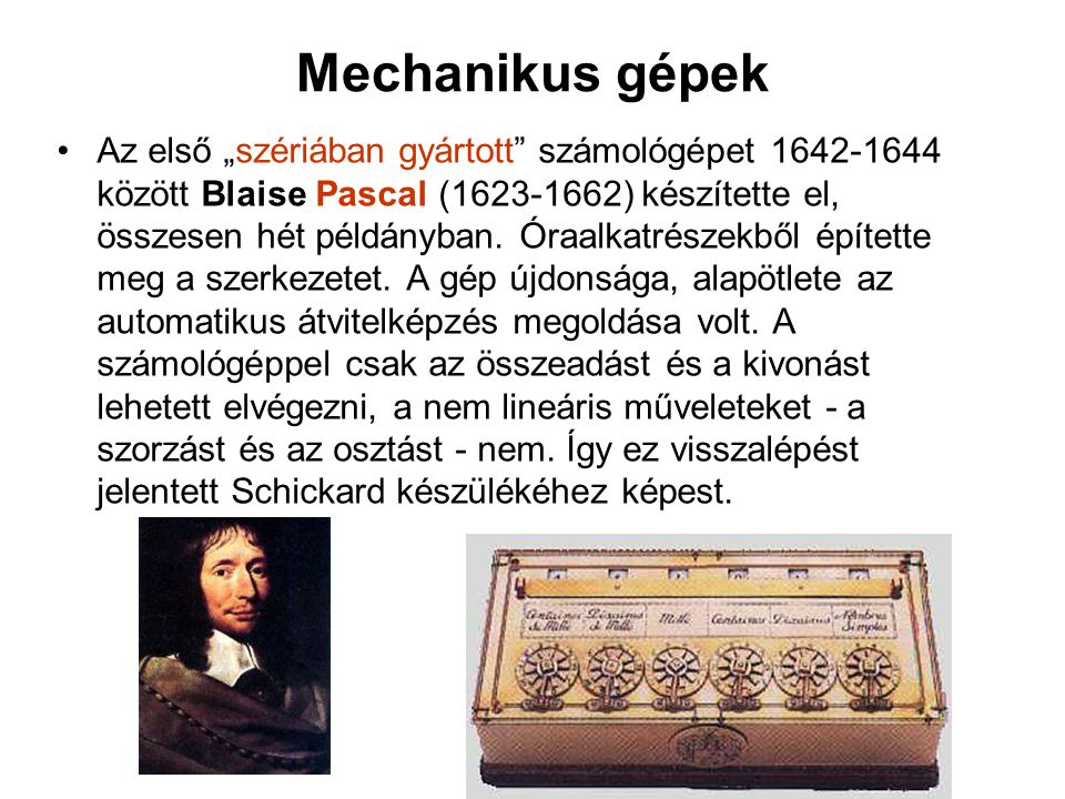 Mechanikus gépek