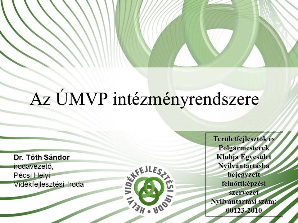 Az ÚMVP intézményrendszere