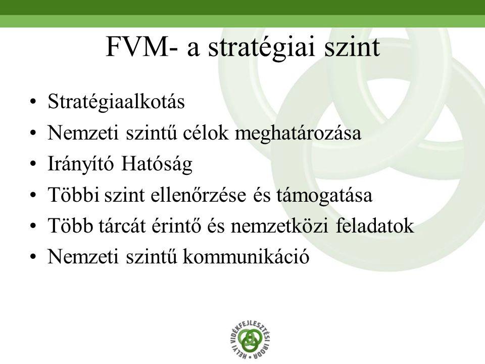 FVM- a stratégiai szint