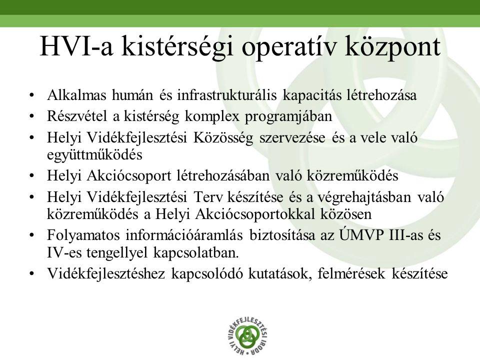 HVI-a kistérségi operatív központ
