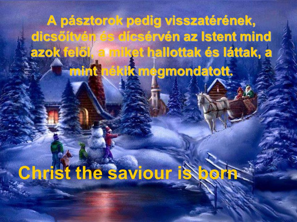 Christ the saviour is born