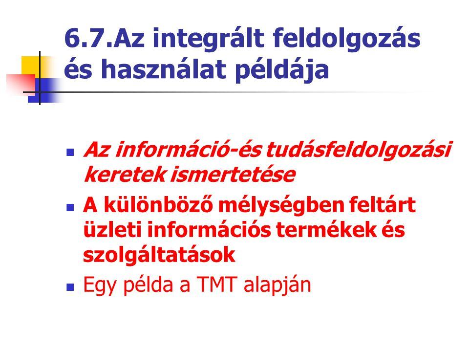 6.7.Az integrált feldolgozás és használat példája