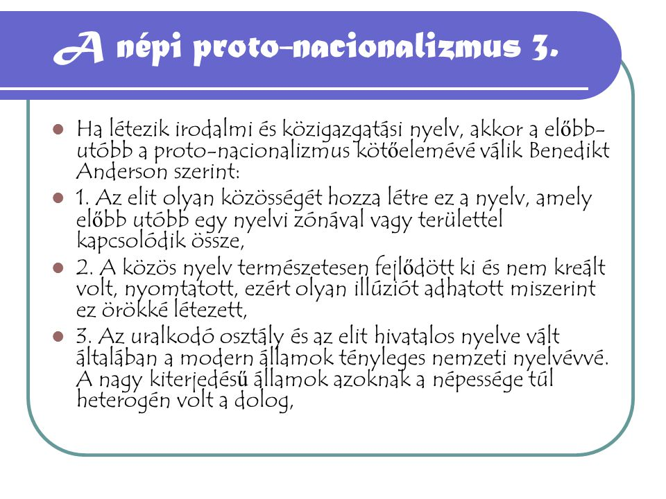 A népi proto-nacionalizmus 3.