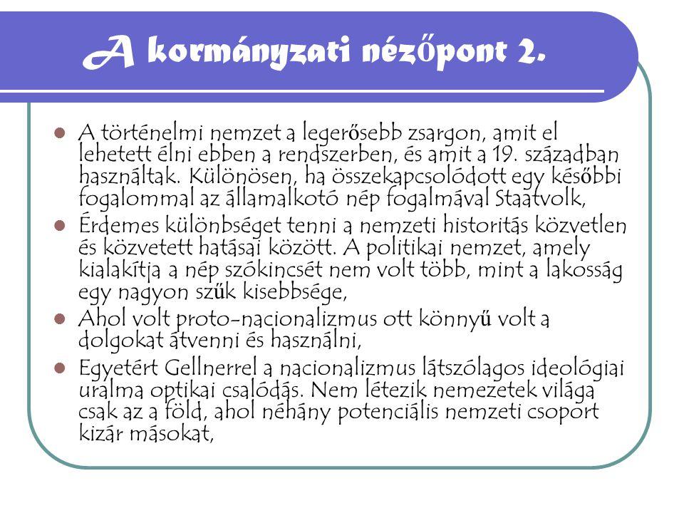 A kormányzati nézőpont 2.