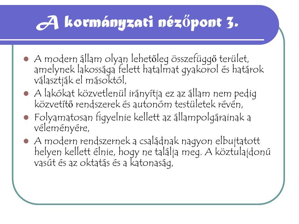 A kormányzati nézőpont 3.