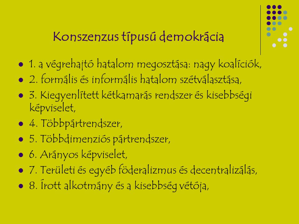 Konszenzus típusú demokrácia