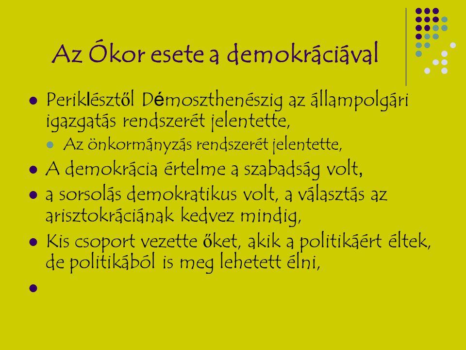 Az Ókor esete a demokráciával