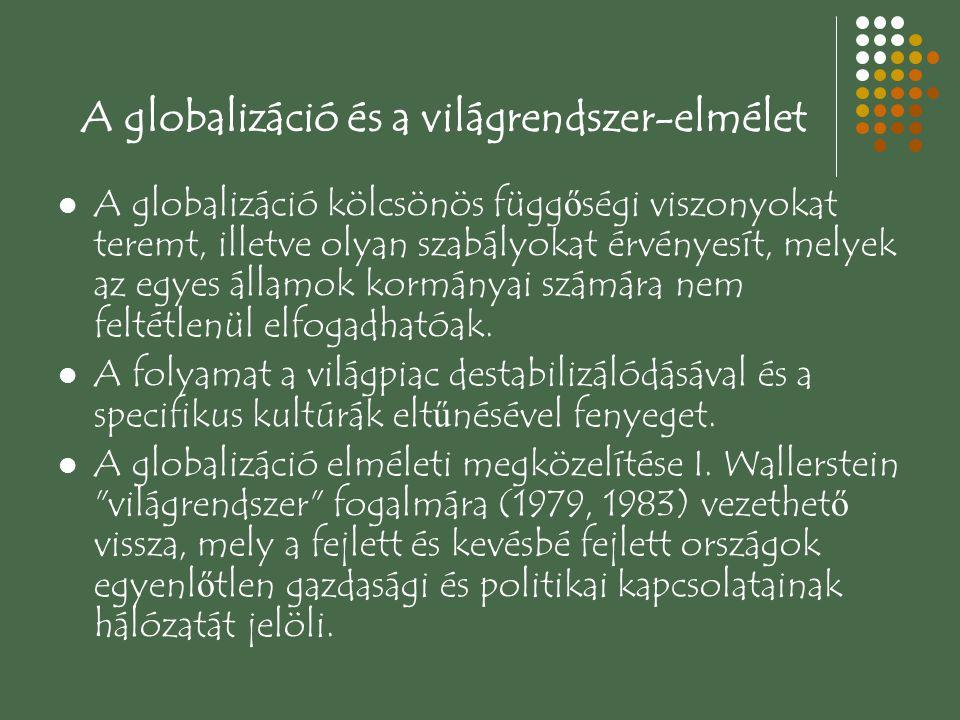 A globalizáció és a világrendszer-elmélet