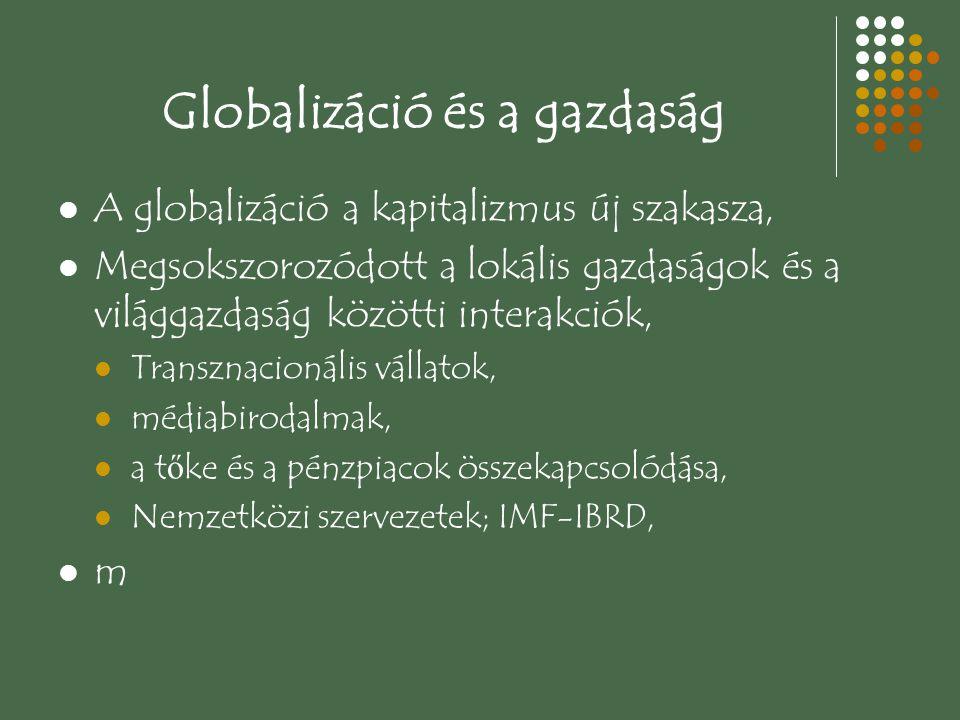 Globalizáció és a gazdaság