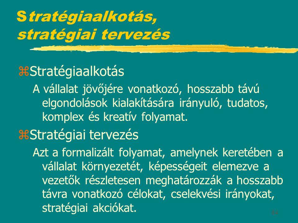 Stratégiaalkotás, stratégiai tervezés