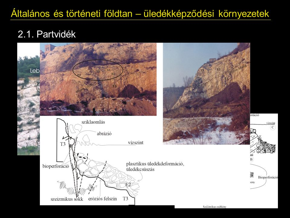 Általános és történeti földtan – üledékképződési környezetek