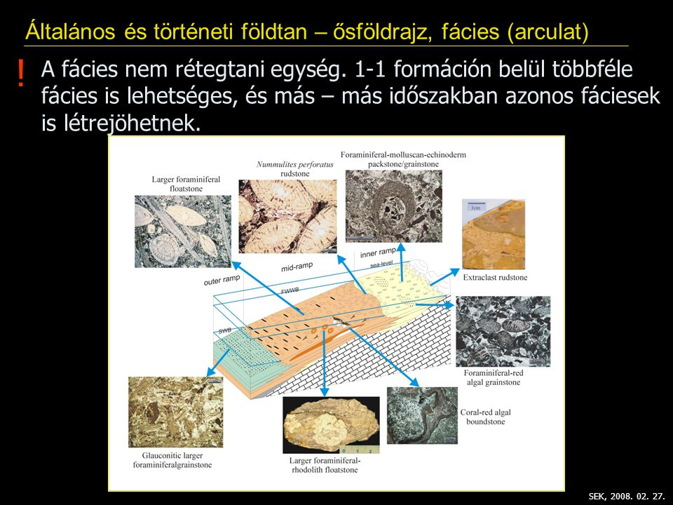 ! Általános és történeti földtan – ősföldrajz, fácies (arculat)