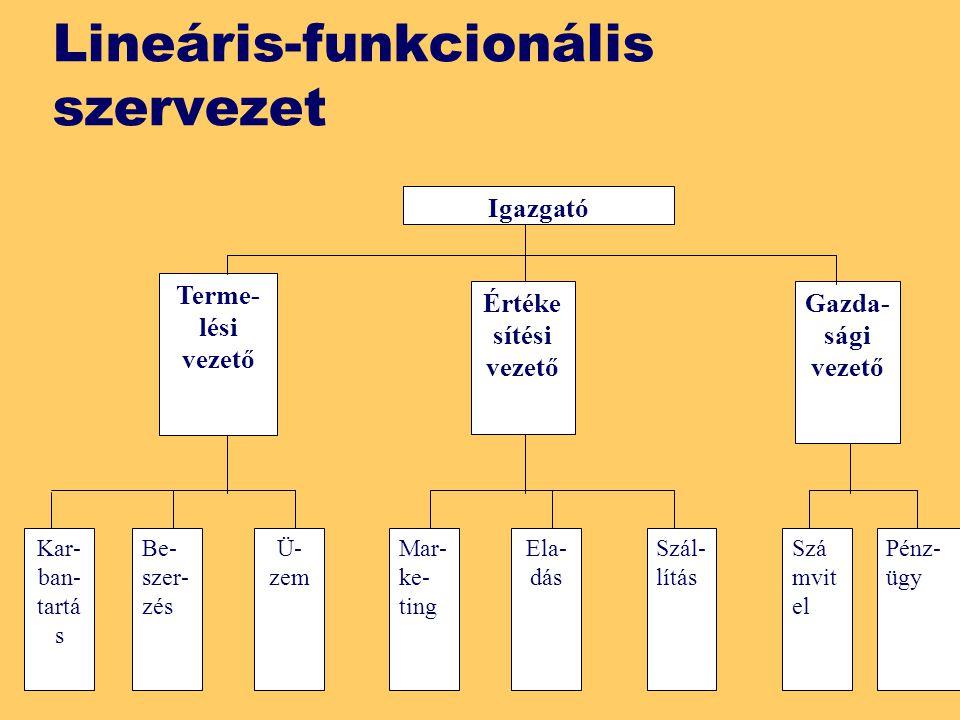 Lineáris-funkcionális szervezet