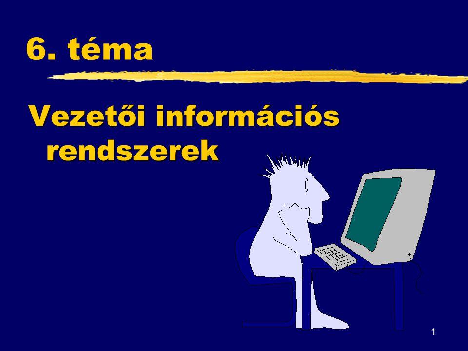 6. téma Vezetői információs rendszerek