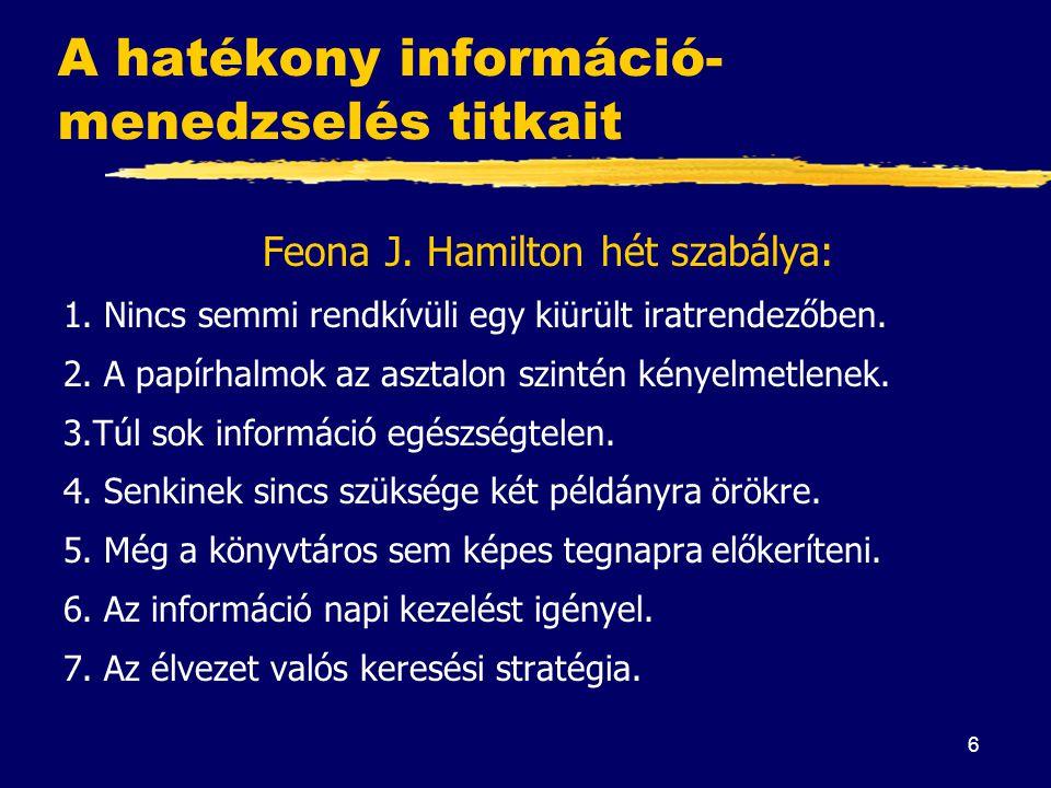 A hatékony információ-menedzselés titkait