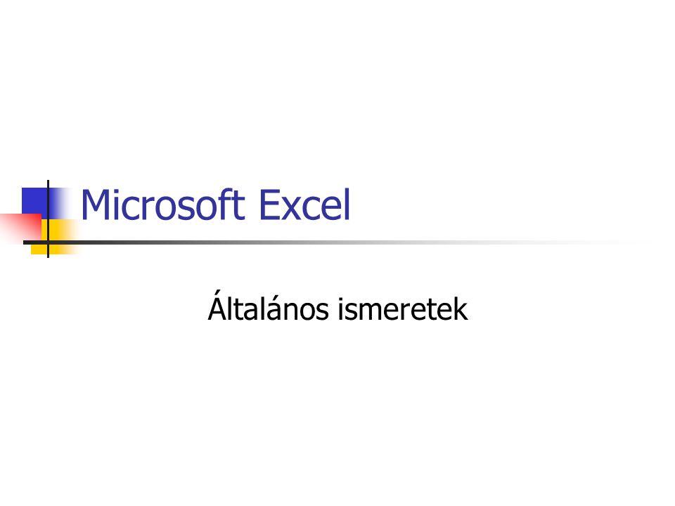 Microsoft Excel Általános ismeretek