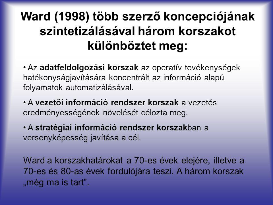 Ward (1998) több szerző koncepciójának szintetizálásával három korszakot különböztet meg: