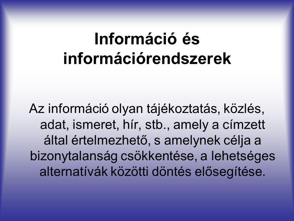 Információ és információrendszerek