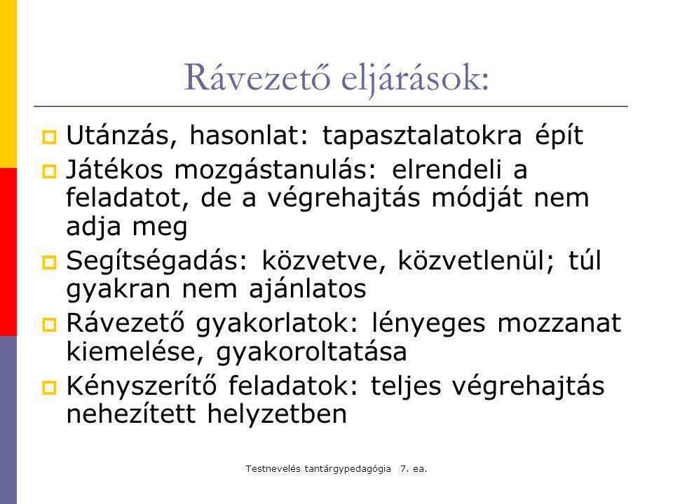 Testnevelés tantárgypedagógia 7. ea.