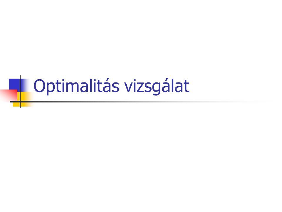 Optimalitás vizsgálat