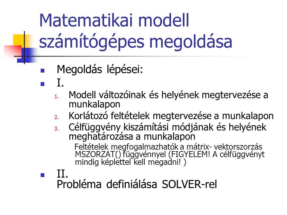 Matematikai modell számítógépes megoldása