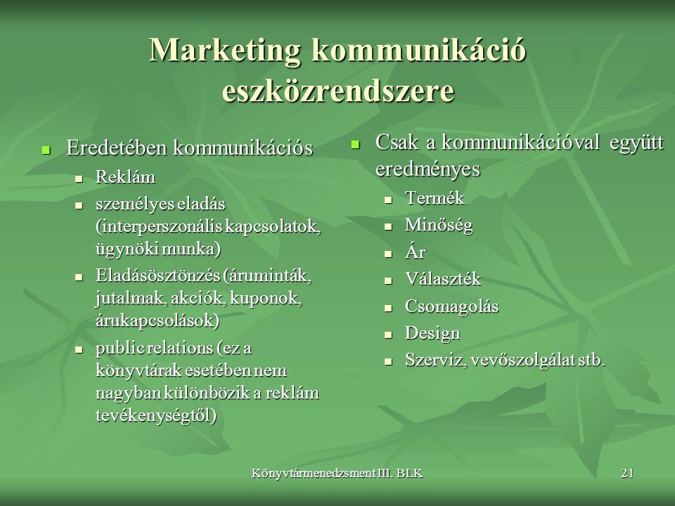 Marketing kommunikáció eszközrendszere
