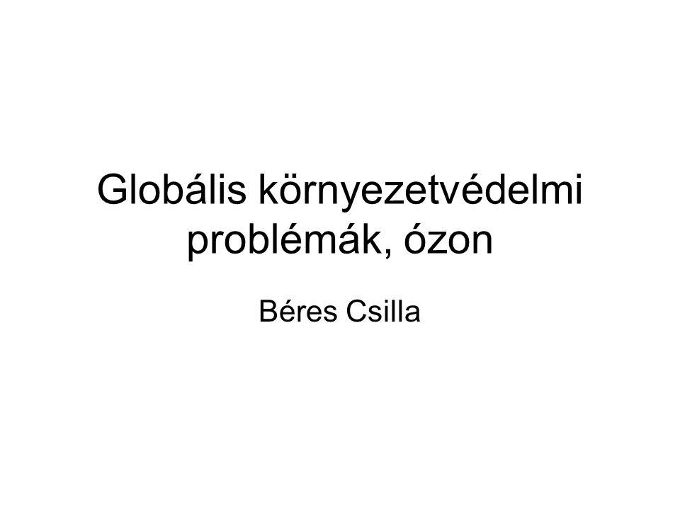 Globális környezetvédelmi problémák, ózon
