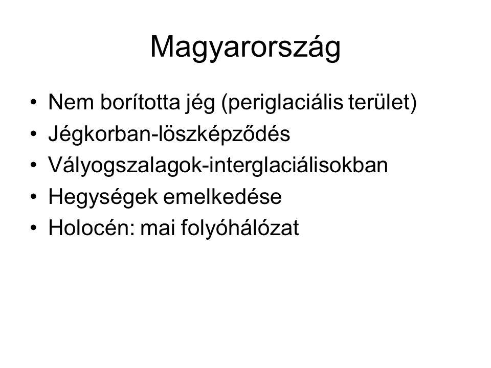 Magyarország Nem borította jég (periglaciális terület)