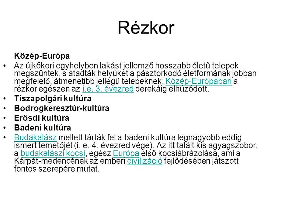 Rézkor Közép-Európa.