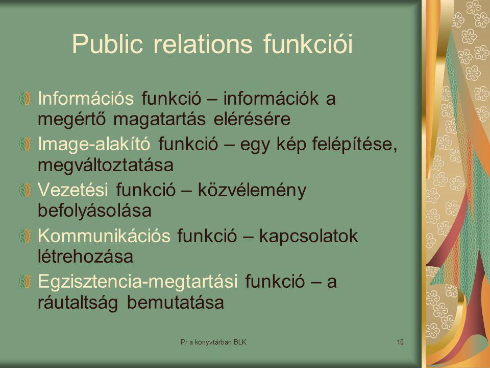 Public relations funkciói