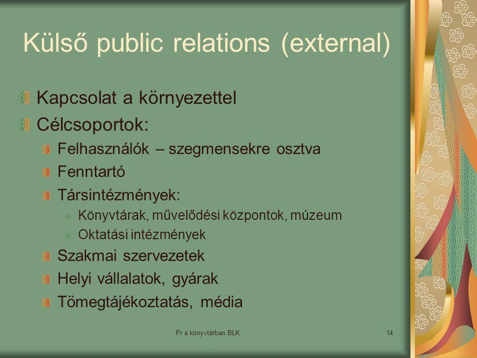 Külső public relations (external)