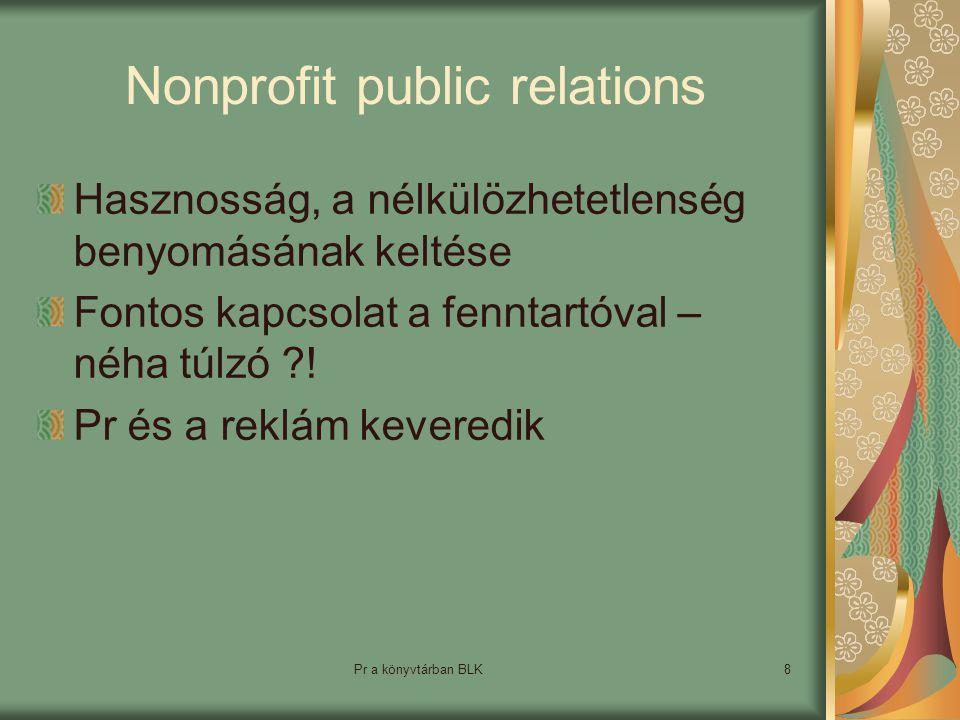 Nonprofit public relations