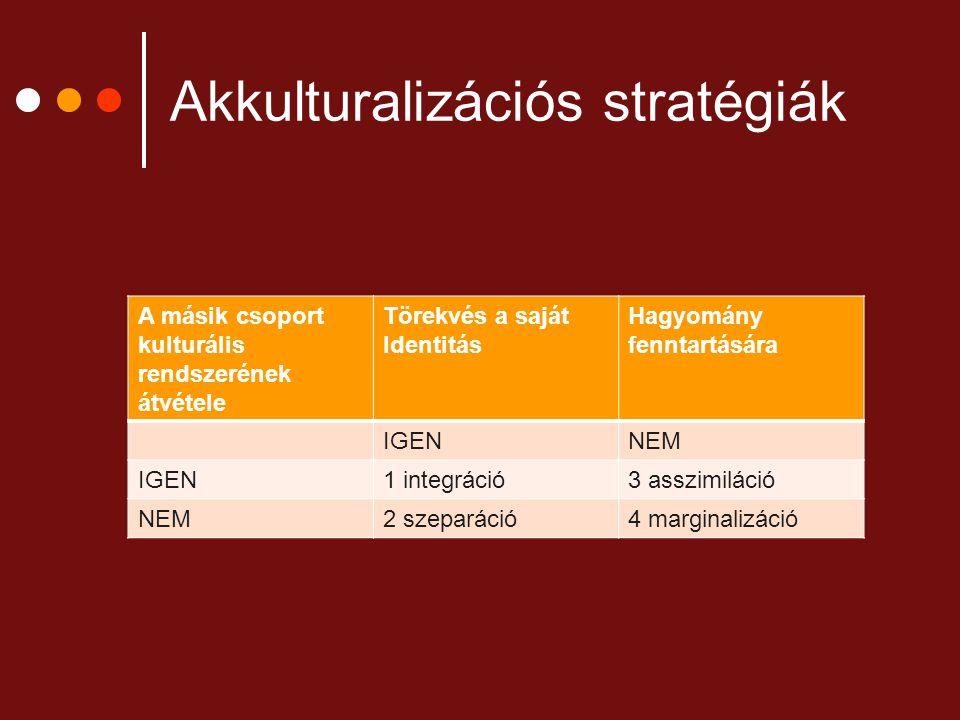 Akkulturalizációs stratégiák